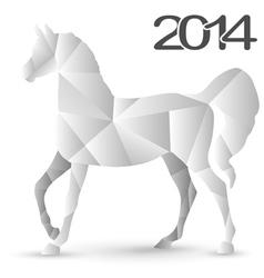horse mosaic vector image