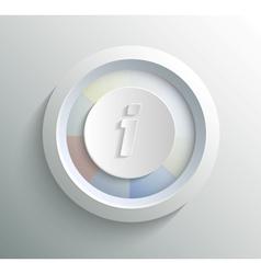 Icon info vector image