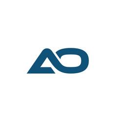 Initial letter ao logo bold template vector