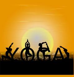 international yoga day vector image
