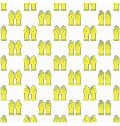 latex gloves icon seamless pattern vector image