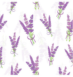 Lavender bouquets seamless pattern vector