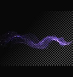 light line neon blue wave effect glitter vector image