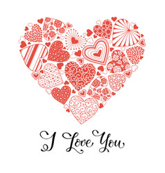 Love you card vector