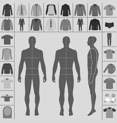 man clothing set vector image
