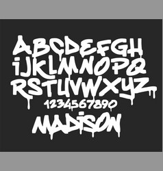 Marker graffiti font handwritten typography vector
