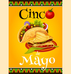 Mexican cinco de mayo fiesta greeting card vector