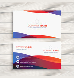 Modern colorful business card design vector