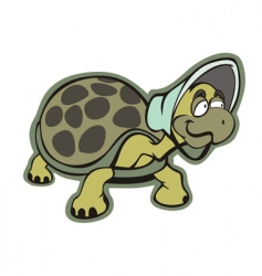 old turtle vector image
