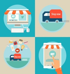 Online shopping Business concept with business vector image vector image