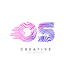 Os o s zebra lines letter logo design with vector