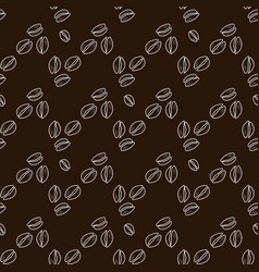 Outline coffee beans seamless pattern vector