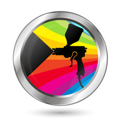 paint sprayer symbol vector image