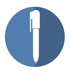 pen write object icon shadow vector image