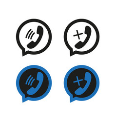 Phone icons in speech bubbles simple vector
