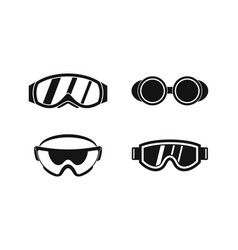 protect glasses icon set simple style vector image