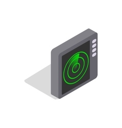 Radar screen icon isometric 3d style vector