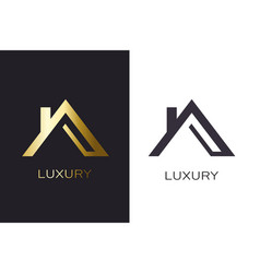 real estate lucxury house logo for business vector image
