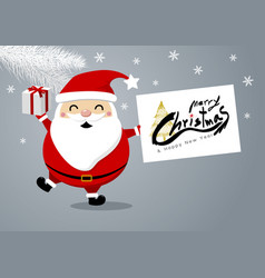 santa claus design for christmas and new year vector image