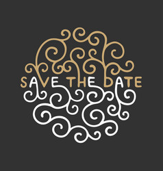 save date invite card template with modern vector image