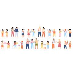 school students groups elementary school pupils vector image