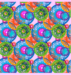 seamless pattern with concentric circles with vector image