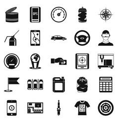 Secretaire icons set simple style vector