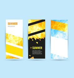 set abstract geometric roll up vertical summer vector image