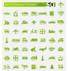 Set of transport stickers vector image