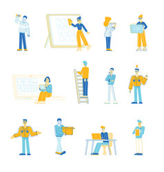 set office people managers designers and vector image