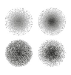 set stipple circle textures dotted vector image