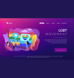 Sexuality and gender identity concept landing page vector