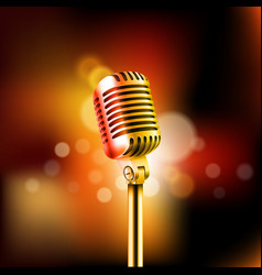 shining microphone standup comedy show concept vector image