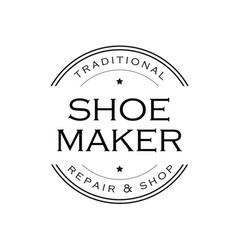 shoe maker vintage sign logo vector image