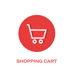 shopping cart flat icon buy symbol vector image