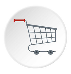 shopping cart icon circle vector image