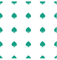 Spades icon pattern seamless white background vector