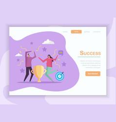 success concept landing page vector image