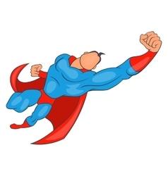 Superhero flying forward icon cartoon style vector image