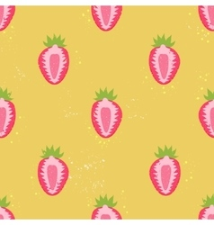 Sweet berry seamless pattern vector image
