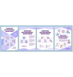 Tackling antimicrobial resistance brochure vector
