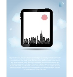 Template for smart phone and pad company vector