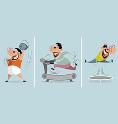 three training men vector image