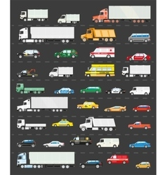 Traffic jam on the road transportation vector