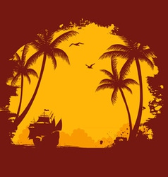 Tropic back orange vector
