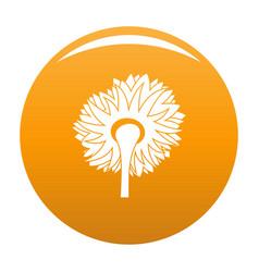 Turning sunflower icon orange vector