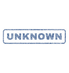Unknown textile stamp vector