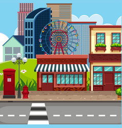 urban town city background vector image