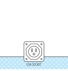 USA socket icon Electricity power adapter vector image