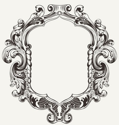 Vintage high ornate original royal frame vector